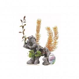 marina deco rock con plantas