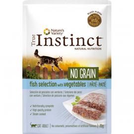 SOBRE TRUE INSTINCT NO GRAIN POUCH FISH 70GR