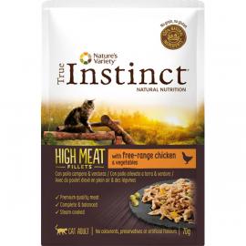 SOBRE TRUE INSTINCT HIGH MEAT POUCH ADULT CHICKEN 70GR