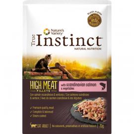 SOBRE TRUE INSTINCT HIGH MEAT SALMON ADULT 70GR