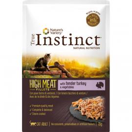 SOBRE TRUE INSTINCT HIGH MEAT POUCH ADULT TURKEY ADULT MINI 150GR