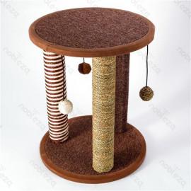 Columna de arbol para gatos marron
