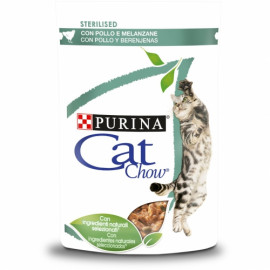 PURINA CAT CHOW Adulto con pollo y berenjenas en salsa 85g