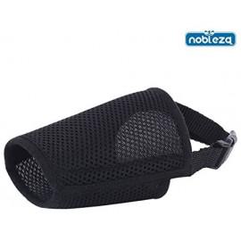Nobleza - Bozal suave para perros color negro 2XL