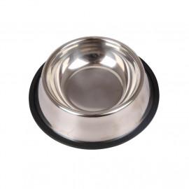 Comedero de acero inoxidable con base antideslizante