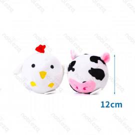 Pelota de peluche estilo pollo / vaca