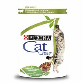 PURINA CAT CHOW Adulto con cordero y judías verdes en salsa 85g