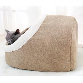Cama para gatos acolchada 46x35x30 cm