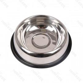 Comedero de acero inoxidable con base antideslizante S