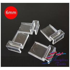 Soporte tapa acuario Pack 4 unids. 6mm
