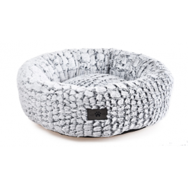 Cama perro donut En Mode Chill Grey M 50 cm diametro
