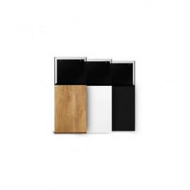 Mesa para Waterbox, Cube 20 (Roble/Blanca/Negra)