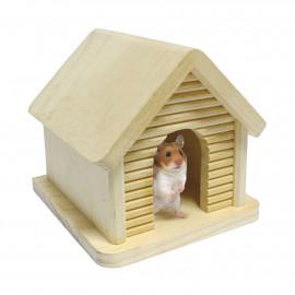 Accesorio de recreo Casita chalet de madera para roedores (12 cm)