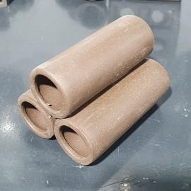 Tres tubos para gambas