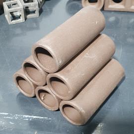 Seis tubos para gambas